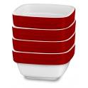 KitchenAid keramický set ramekin (4ks) - kráľovská červená
