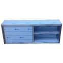 Závesná skrinka nerezová uzatvorená s posuvnými dvierkami, rozmer (dxhxv): 1400 x 300 x 600 mm