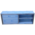 Závesná skrinka nerezová uzatvorená s posuvnými dvierkami, rozmer (dxhxv): 1700 x 300 x 600 mm