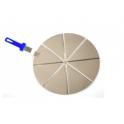 Lopata na pizzu sádzací hliník perforovaná Azzura 32 cm