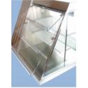 Nerezová tácka pre vitríny HALIFAX 420 x 190 x 10 mm