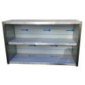 Závesná nerezová skrinka otvorená, rozmer (dxhxv): 1800 x 300 x 600 mm