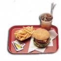 Podnos Fast Food, farba červená, 30 x 41 cm
