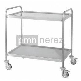 Servírovací vozík s dvoma policami 800 x 500 mm