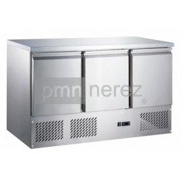 Chladiaci stôl Saladeta MS-1371GR (3x dvere / 1365 mm)