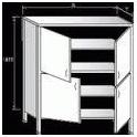 Dvojitá skriňa zaplechovaná - krídlové dvere, rozmer (š xdxv): 500 x 800 x 1800 mm