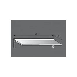 Police nerezová nástenná jednoposchodová, rozmer (dx š): 700 x 300 mm