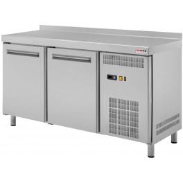 Stôl chladiaci RT 2D-1D2Z S RedFox (1x dvere, 2x zásuvka + drez / 1342 mm)