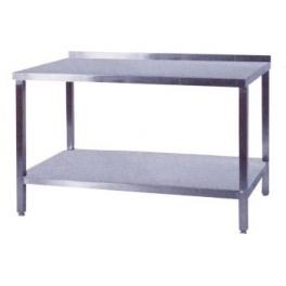 Pracovný stôl nerezový s policou, rozmer (dx š): 800 x 600 x 900 mm